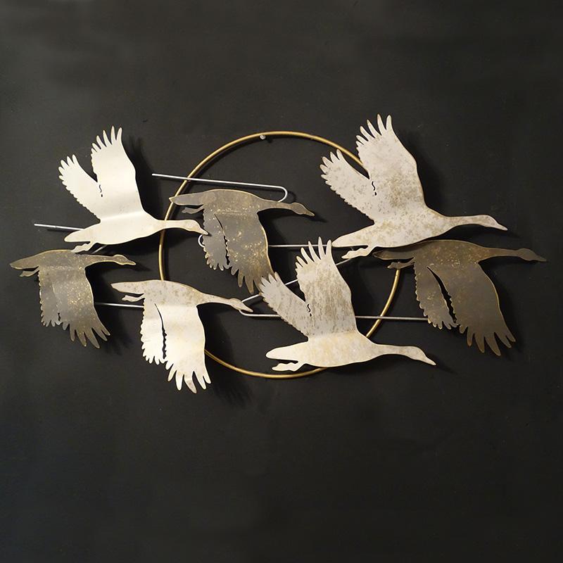 Metal Flying Geese Wall Art