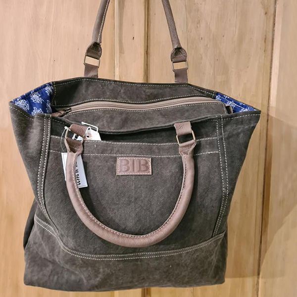 Lavender House Brown Leather Handbag