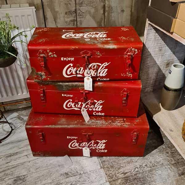 CocaCola Metal storage boxes