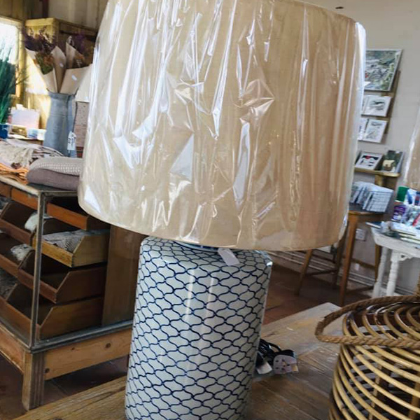 Pattern Glazed Lamp