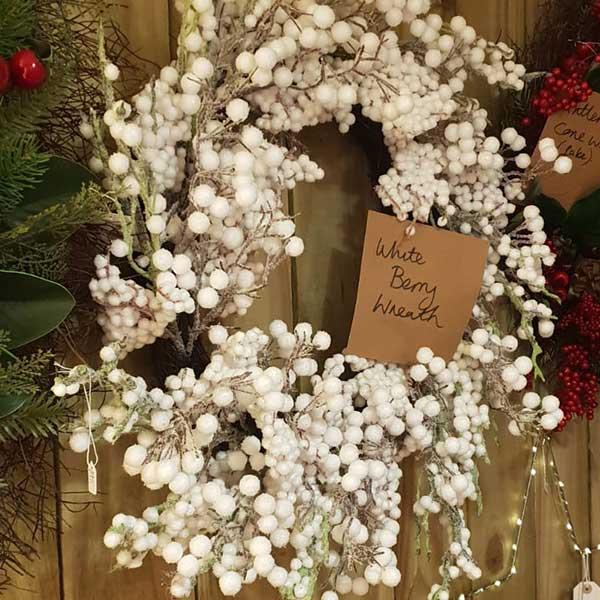 White Berry Wreaths