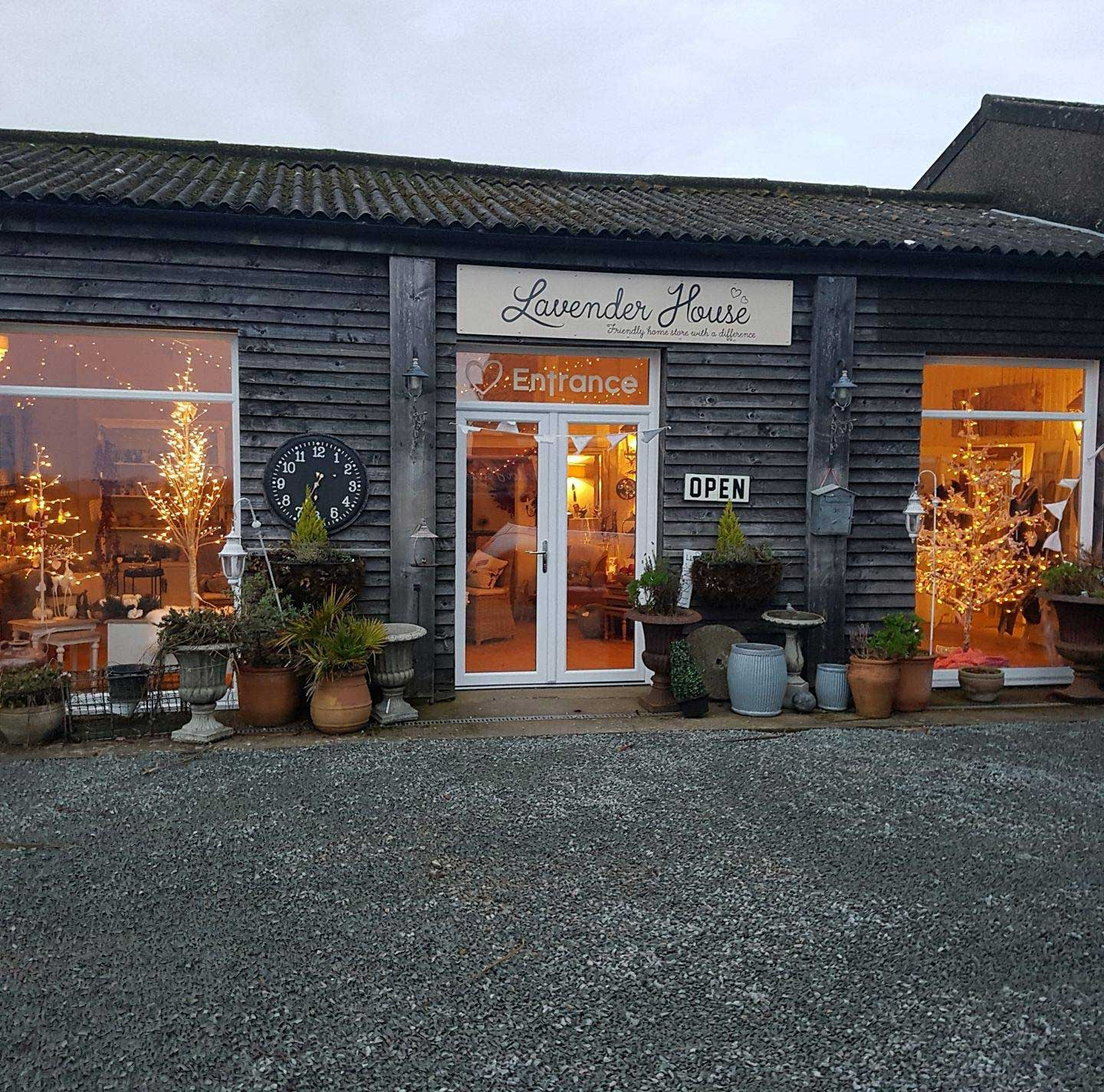 Lavender House Store at Christmas